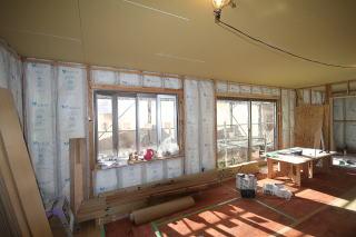 外壁の断熱材の様子